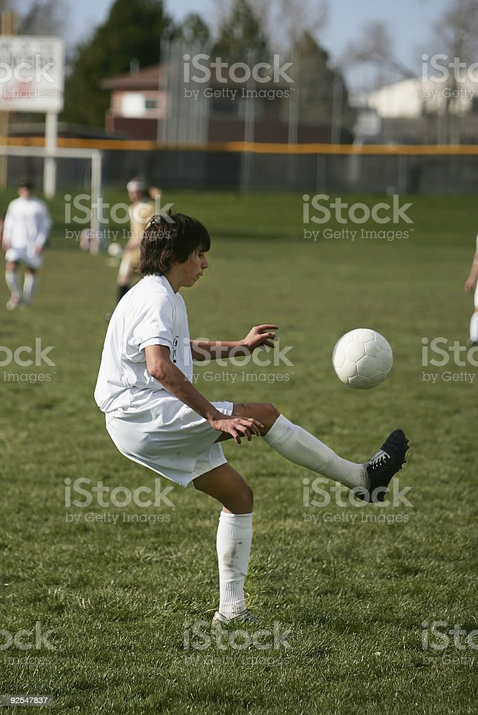 Soccer Ball Juggle stock photo