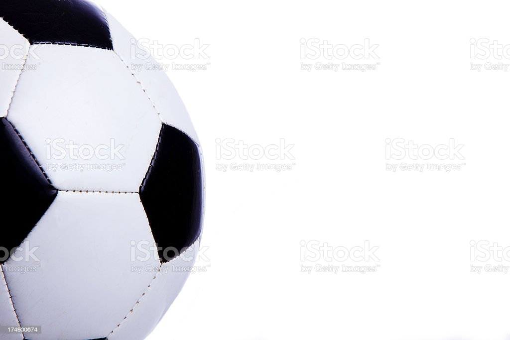 Soccer Ball Left Edge with Copy Space royalty-free stock photo