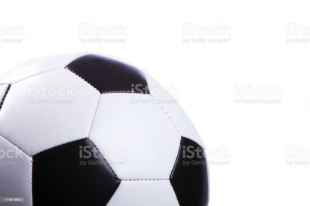 Soccer Ball Lower Left Corner royalty-free stock photo