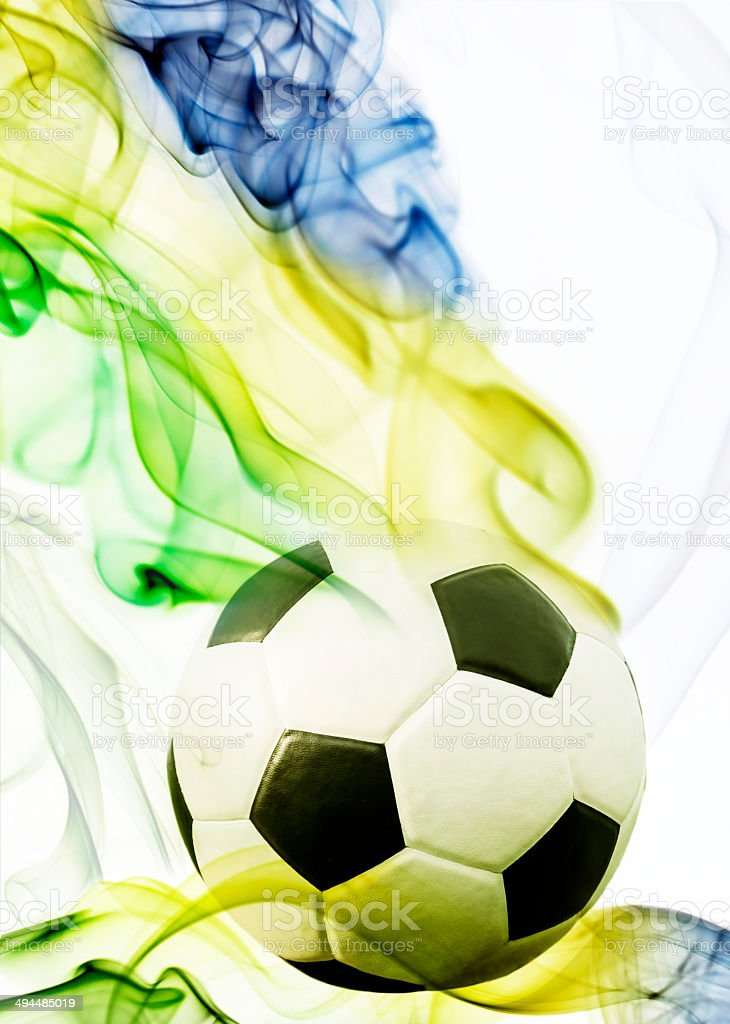 Soccer ball of Brazil 2014 royalty-free stock photo