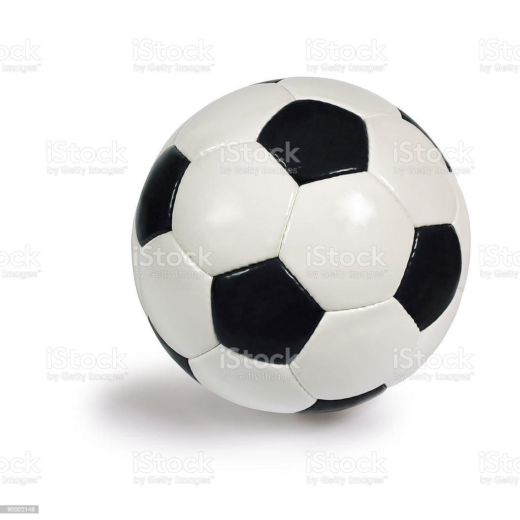 A soccer ball on a white background stock photo