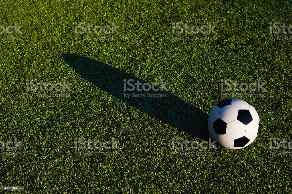 soccer ball on artificial turf royalty-free stock photo