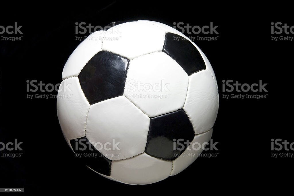 Soccer Ball on Black royalty-free stock photo