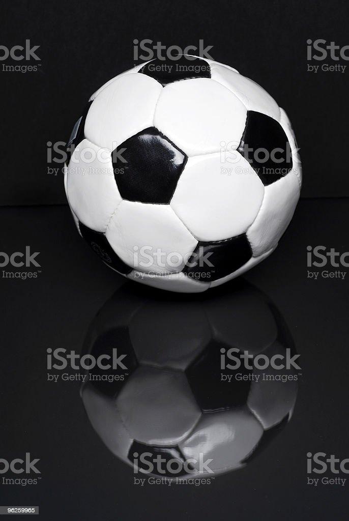 Soccer Ball on Black royalty-free stock photo