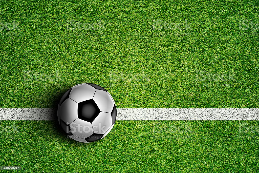 Soccer Ball on Field stock photo