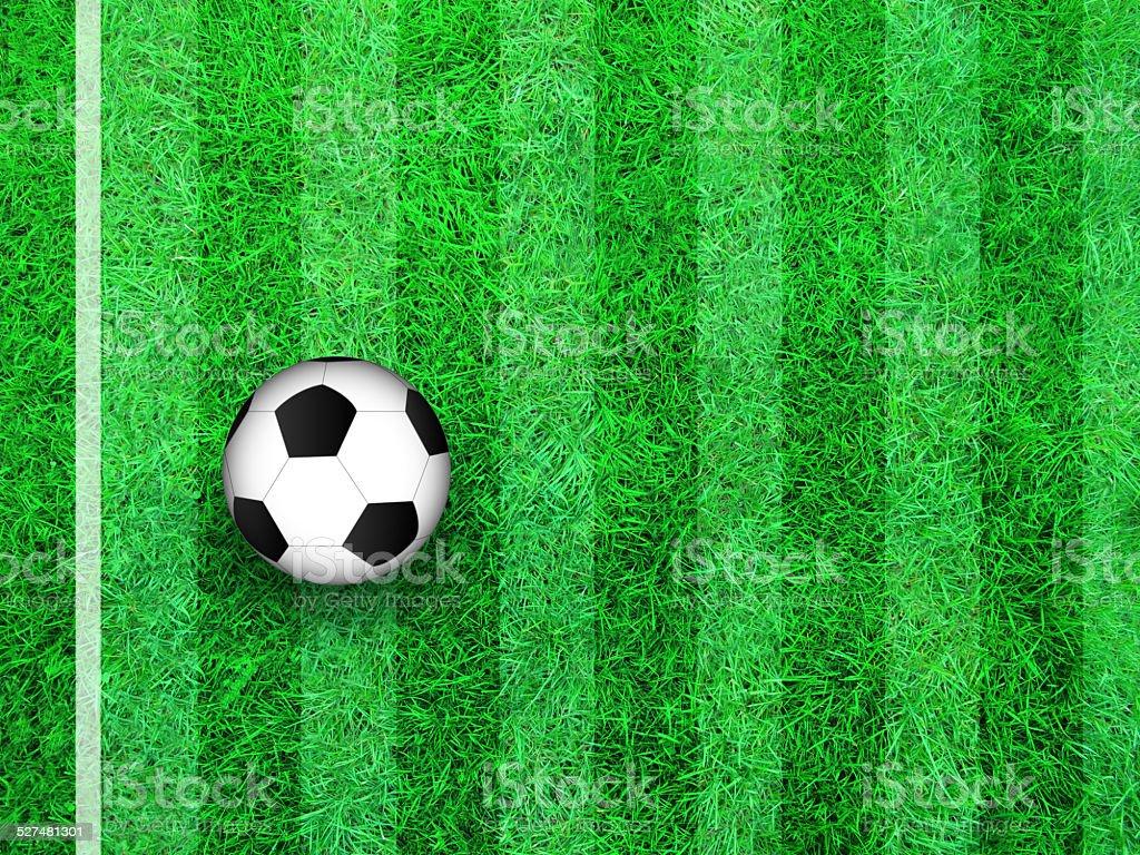 Soccer Ball on Field vector art illustration