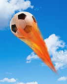Soccer ball on Fire.
