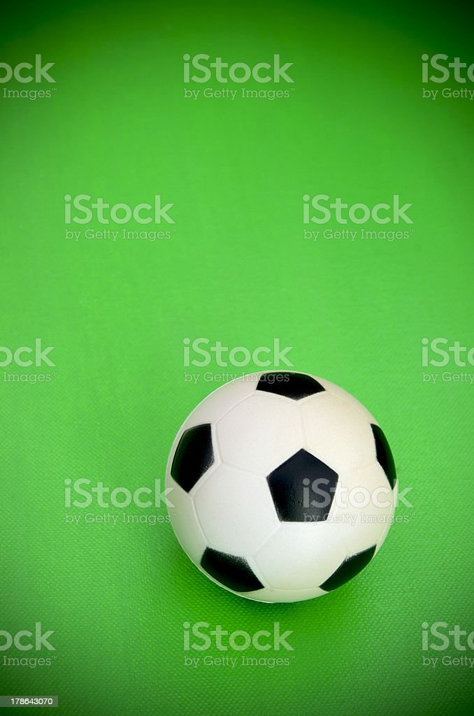 Soccer Ball On Green Background royalty-free stock photo
