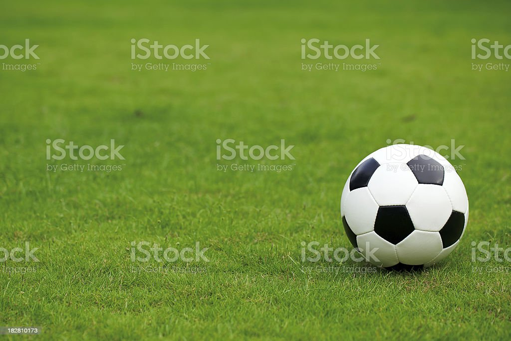 Soccer Ball on Lawn royalty-free stock photo