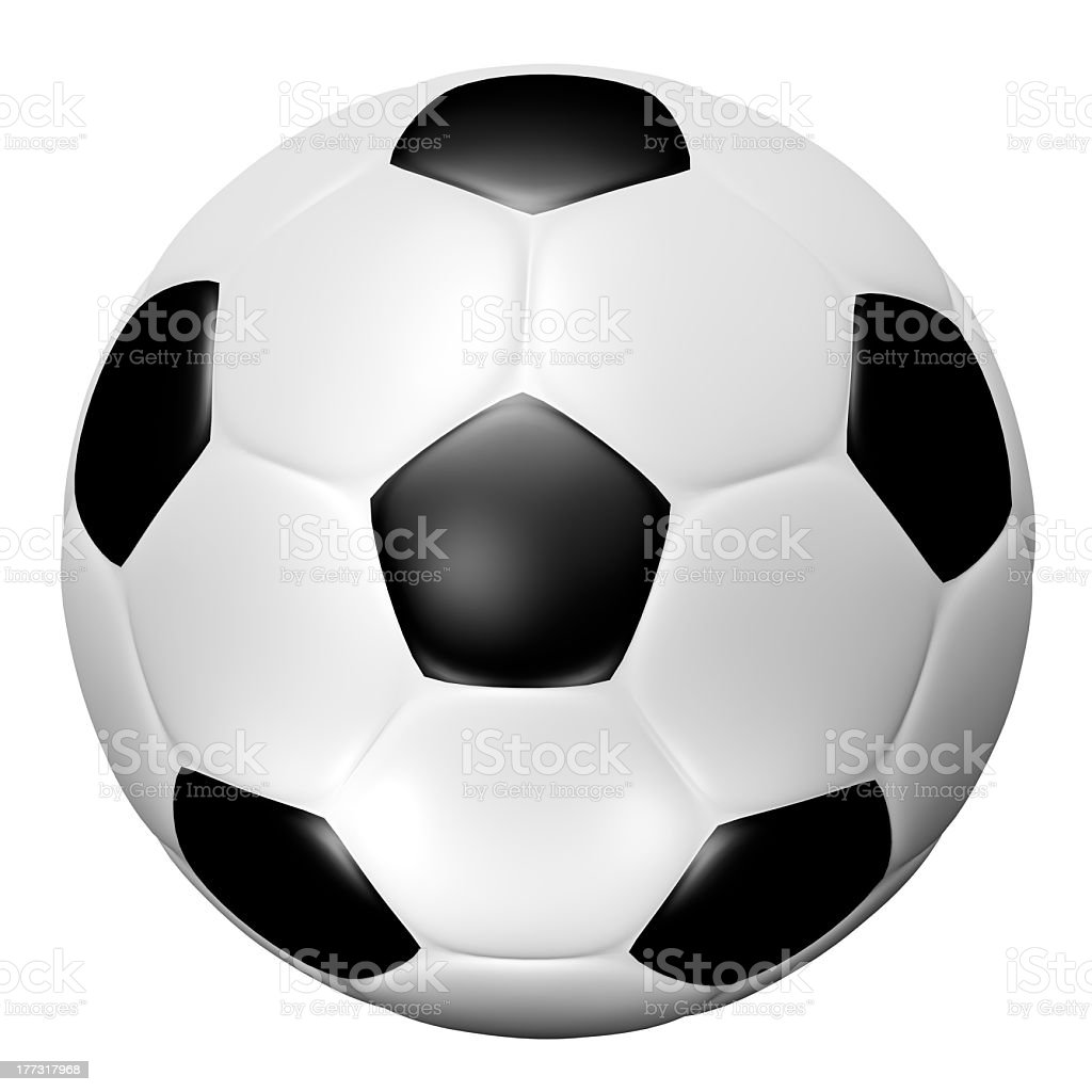 3D soccer ball royalty-free stock photo