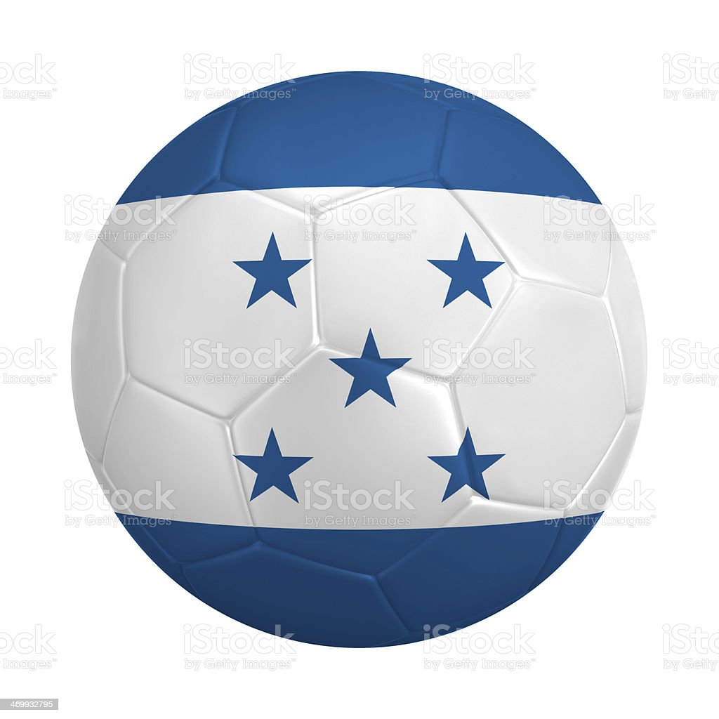 Soccer ball with colors of Honduras flag stock photo