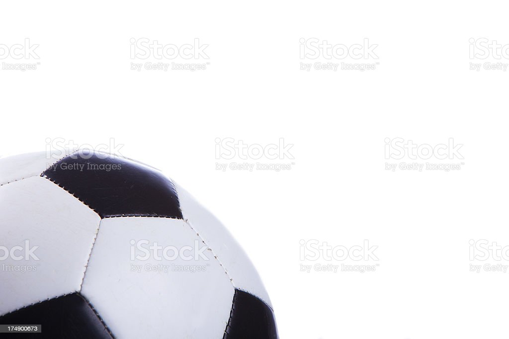 Soccer Ball with Copy Space royalty-free stock photo
