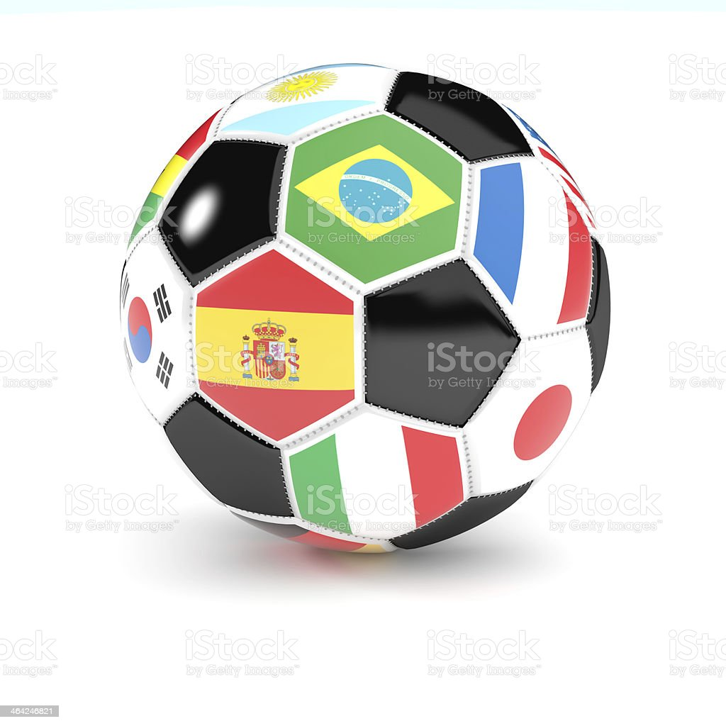 soccer ball with flags royalty-free stock photo