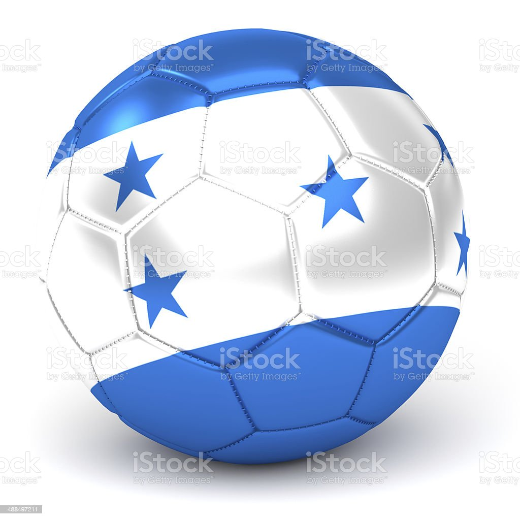 soccer ball with honduran flag stock photo