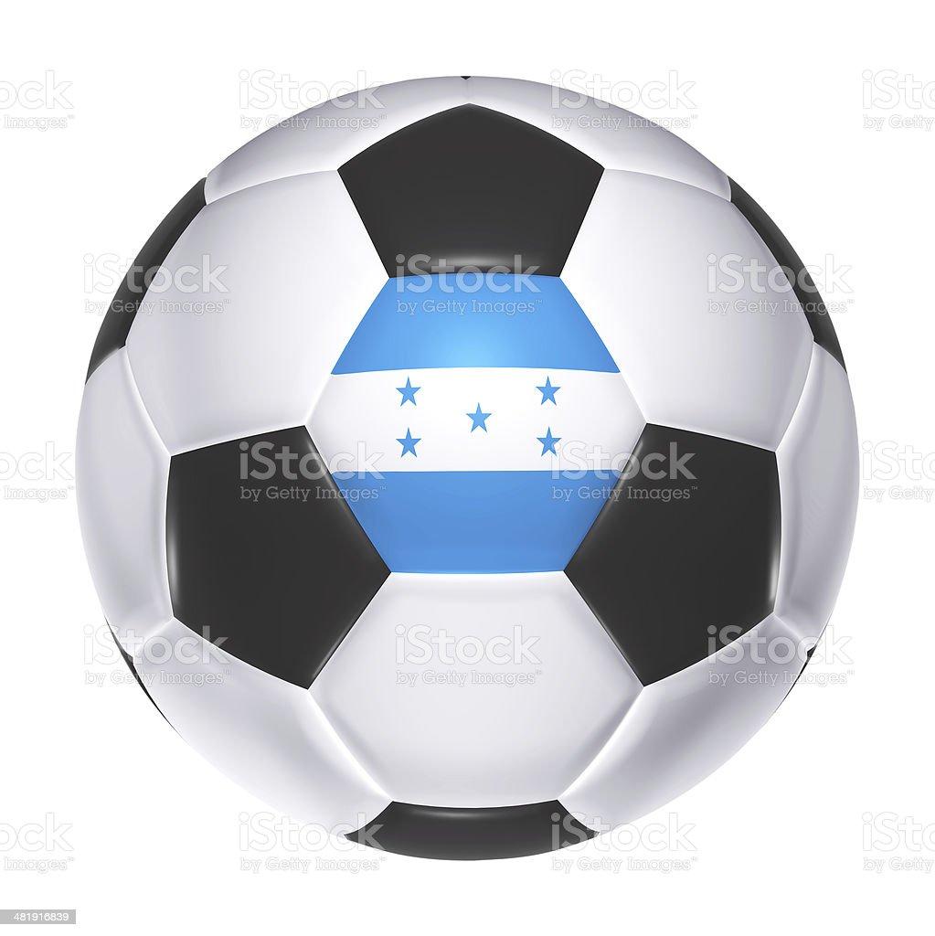 Soccer ball with Honduras flag stock photo