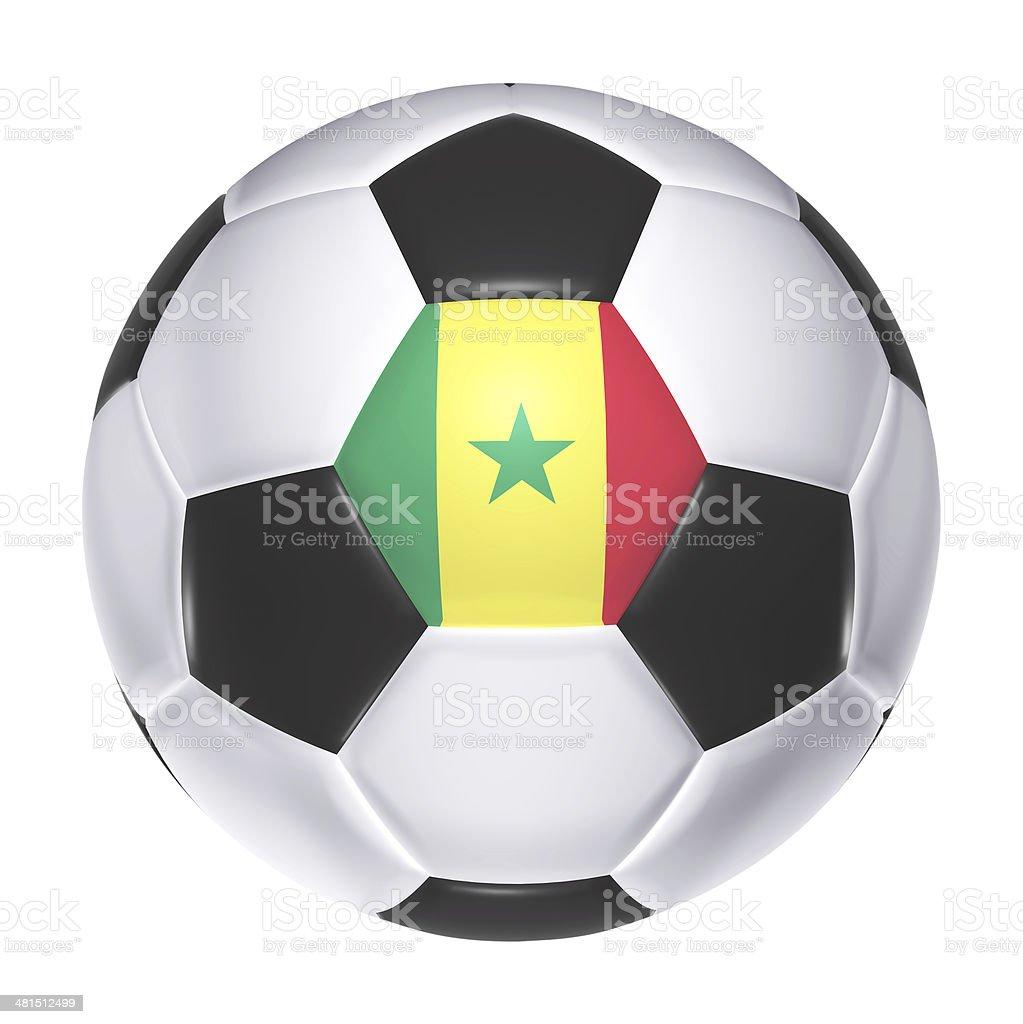 Soccer ball with Senegal flag stock photo