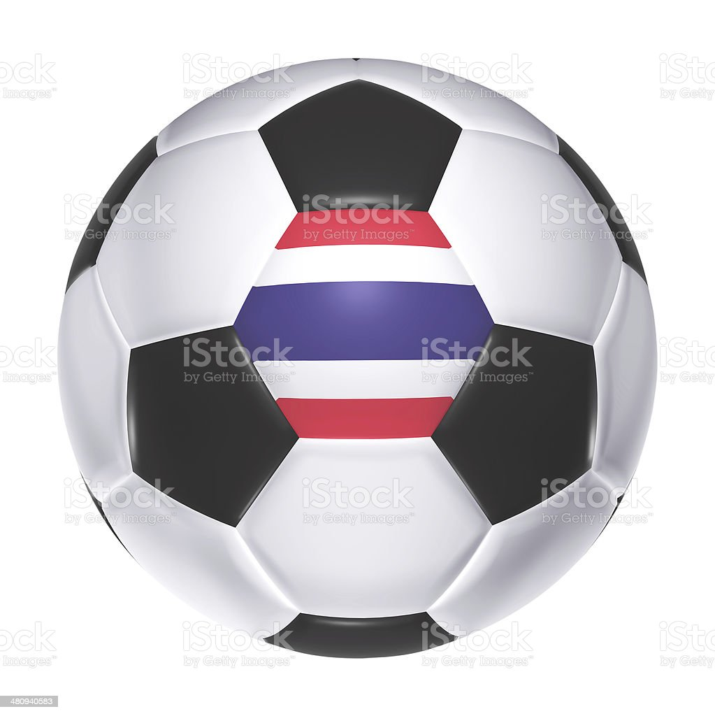 Soccer ball with Thailand flag stock photo