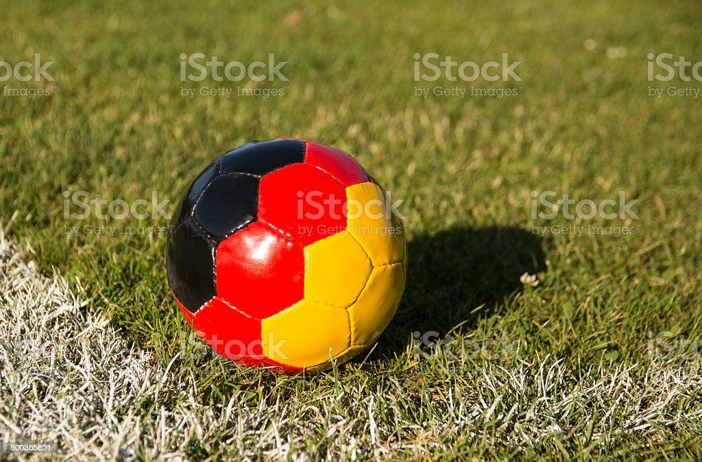 Soccer ball-Germany stock photo