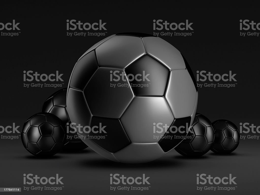 Soccer balls - concept illustration royalty-free stock photo