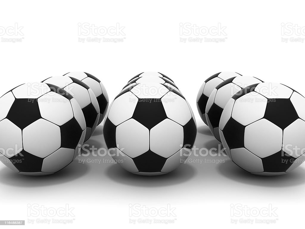 soccer balls royalty-free stock photo
