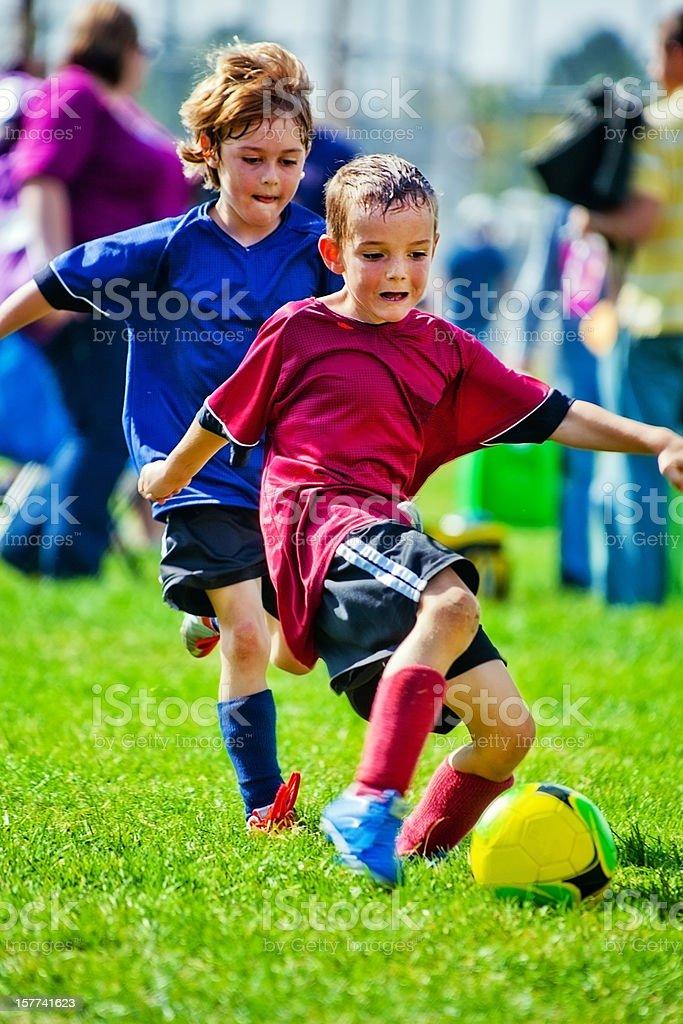 Soccer Battle for Ball stock photo