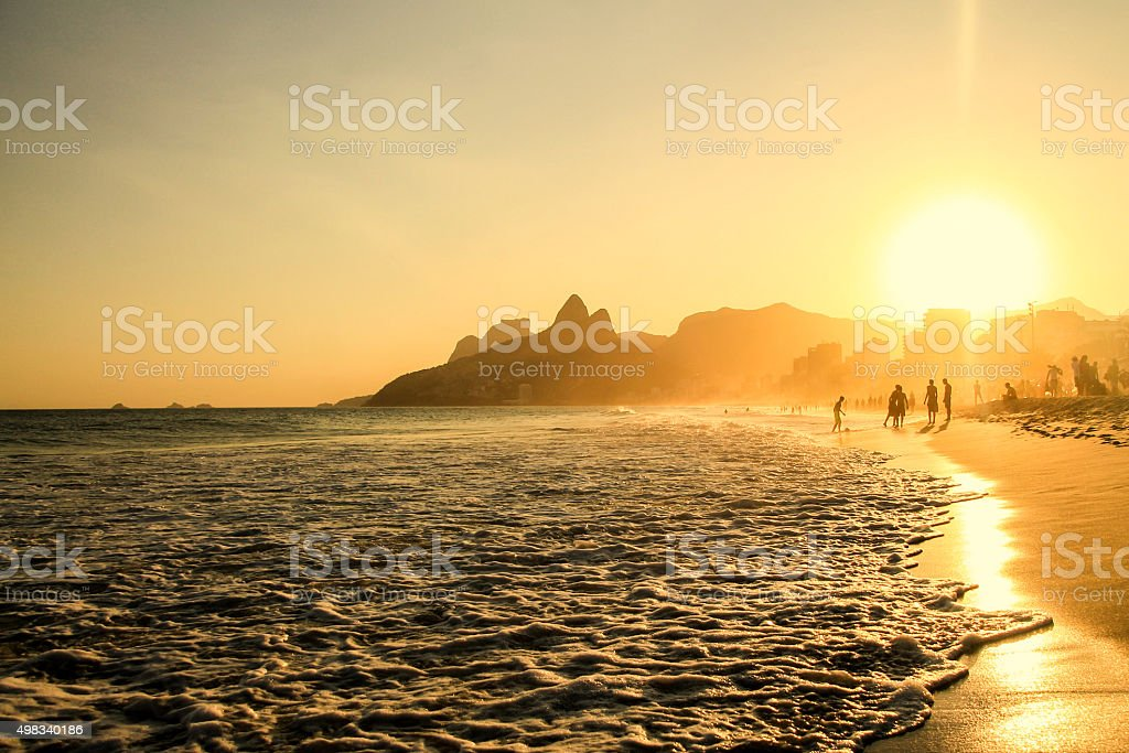 Soccer beach stock photo
