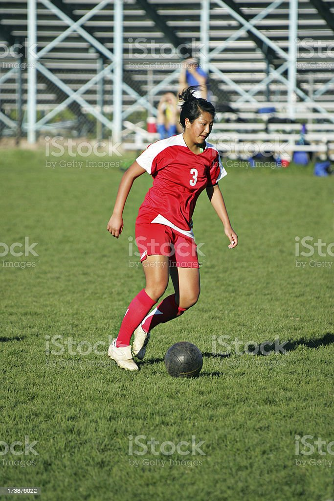 Soccer Black Ball Dribble royalty-free stock photo