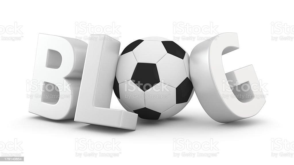 Soccer Blog royalty-free stock photo