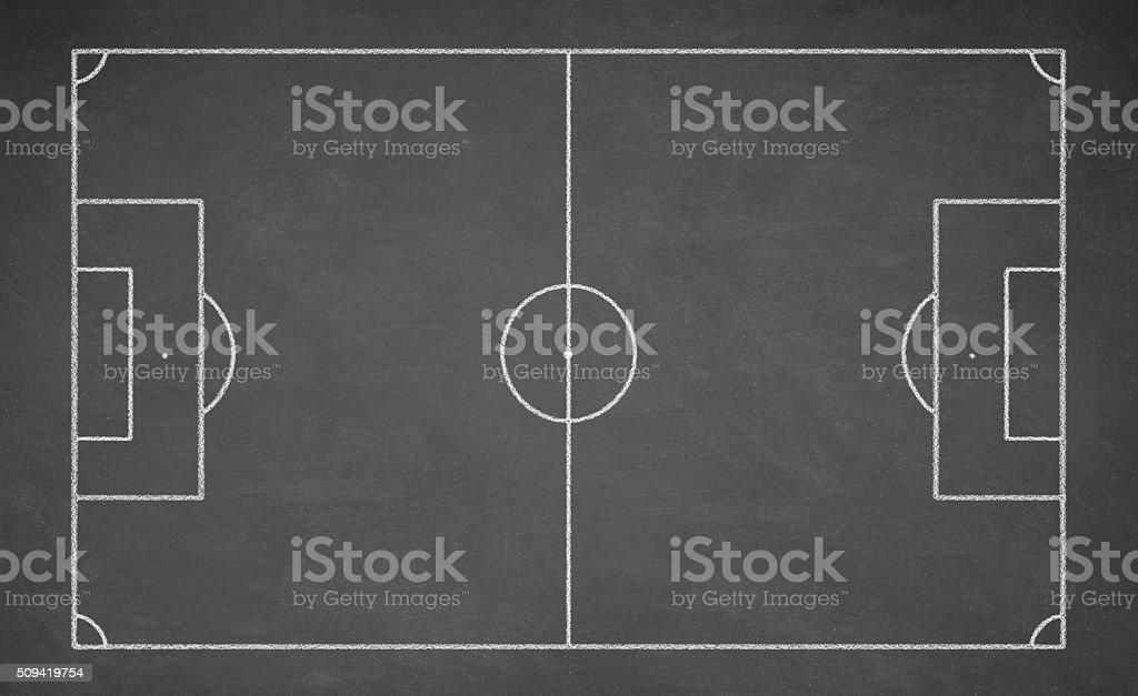 Soccer board, black stock photo