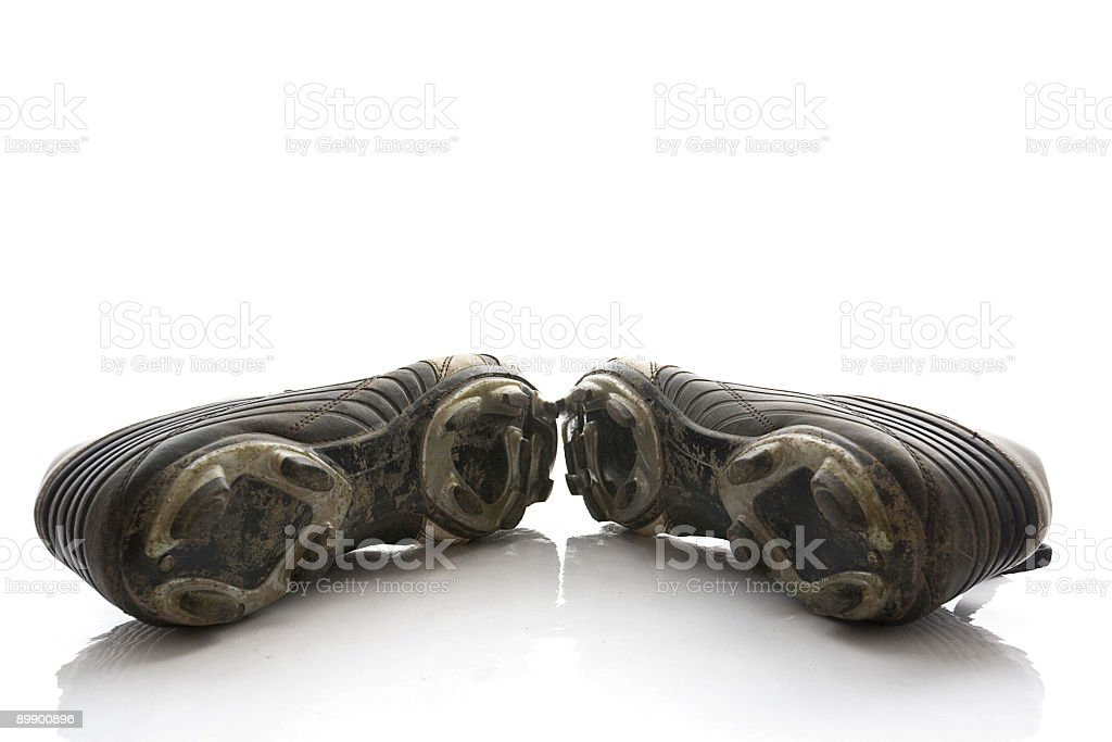 Soccer boots isolated royalty-free stock photo