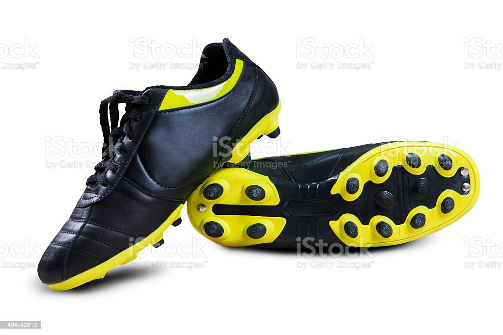 Soccer boots stock photo