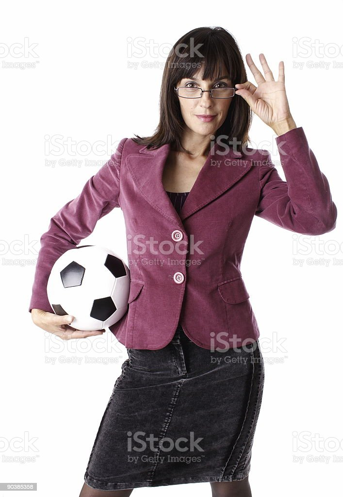 soccer business stock photo