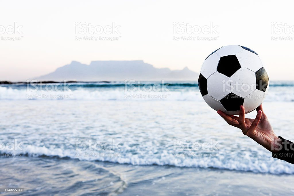 Soccer championship in South Africa stock photo