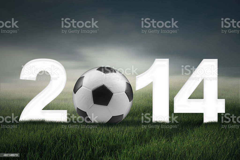 Soccer championship of 2014 concept royalty-free stock photo