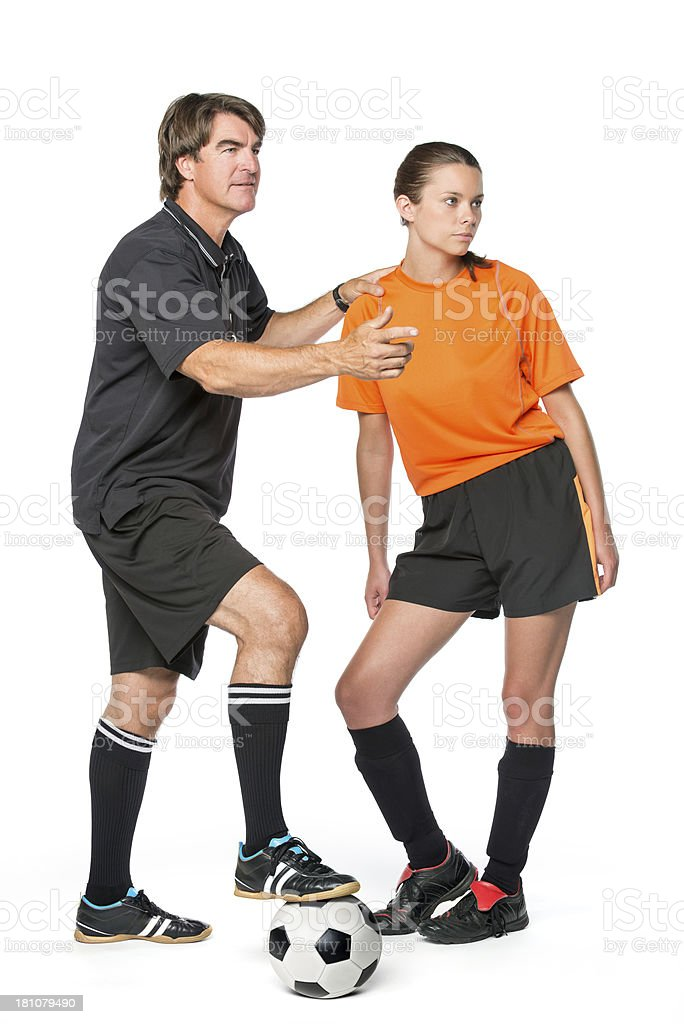 Soccer Coach And Player royalty-free stock photo