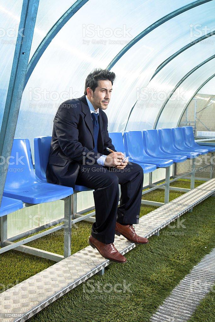 Soccer Coach royalty-free stock photo