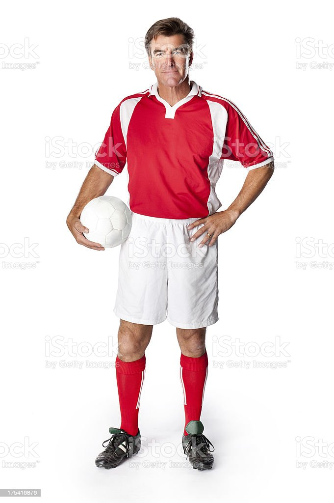 Soccer Coach Player With Ball royalty-free stock photo