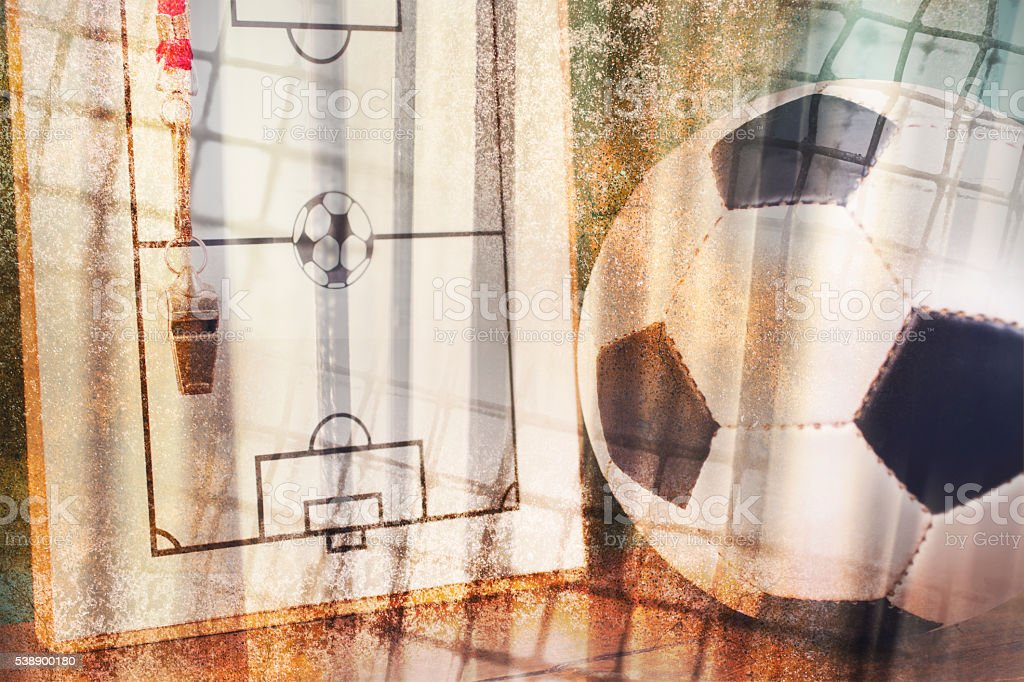 Soccer field diagram created by photographer.