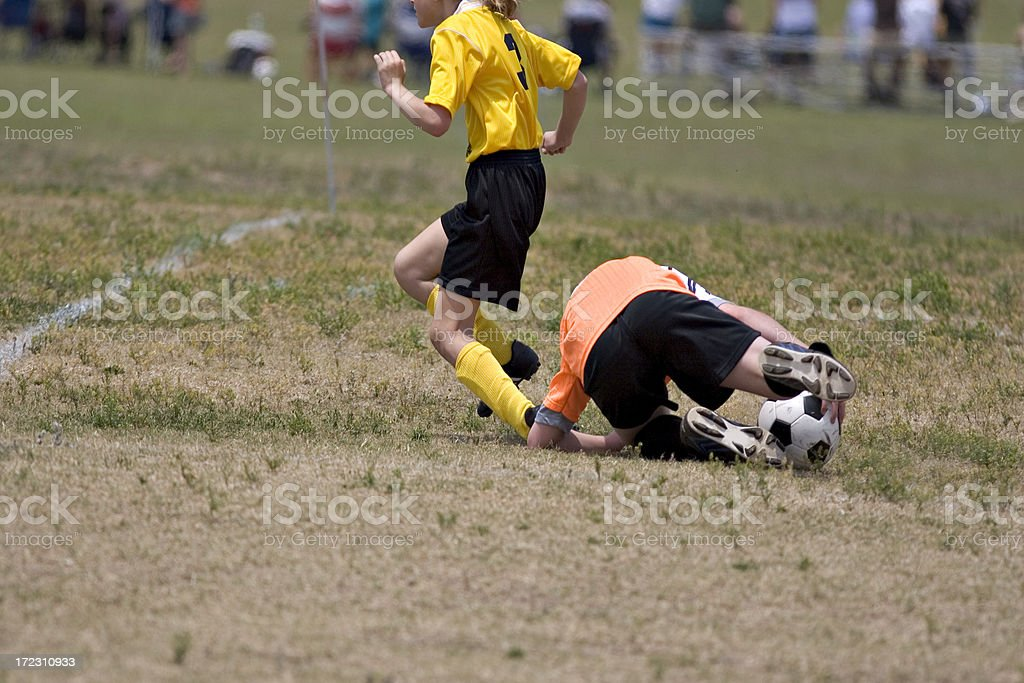 soccer collision royalty-free stock photo