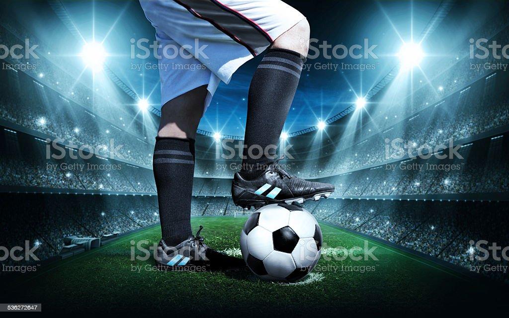 Soccer concept stock photo