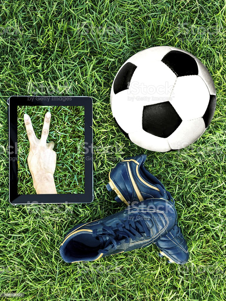 Soccer concepts - Win royalty-free stock photo