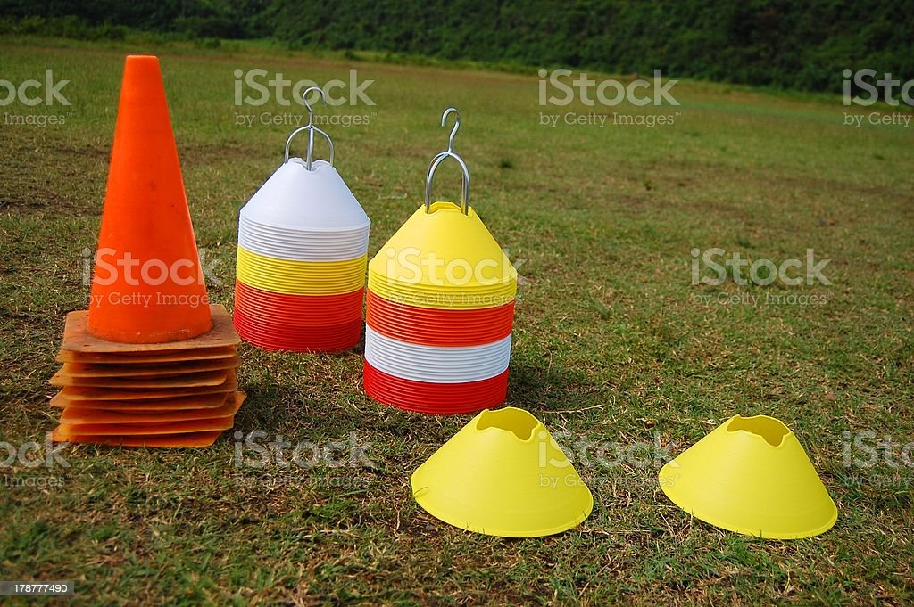 Soccer Cones and Markers photo stock photo