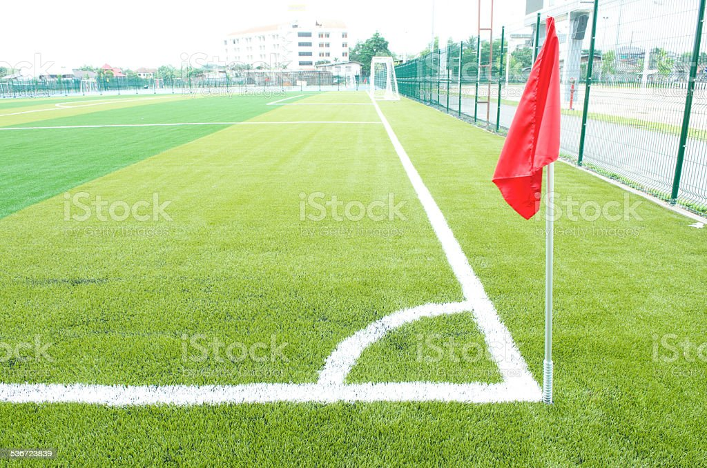 Soccer Corner Flag stock photo