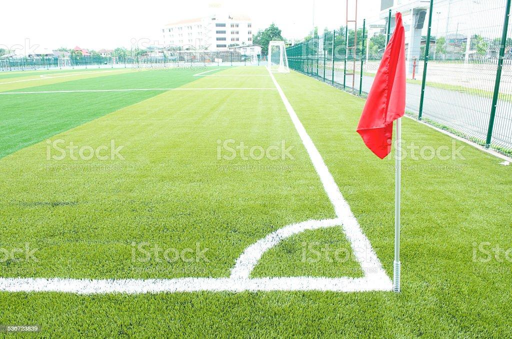 Soccer Corner Flag stock photo