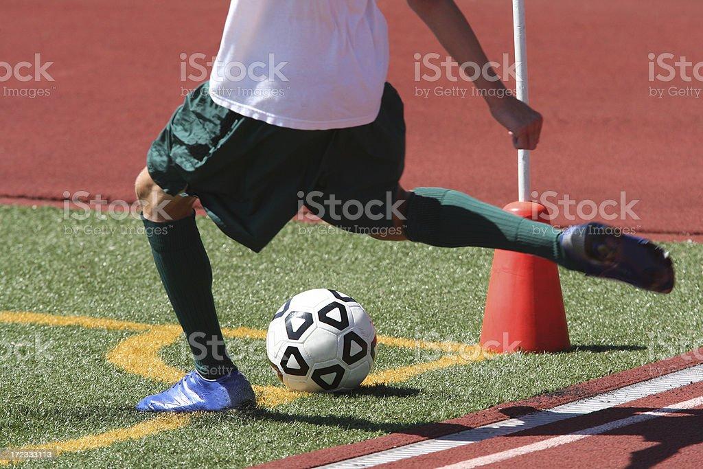 Soccer Corner kick stock photo