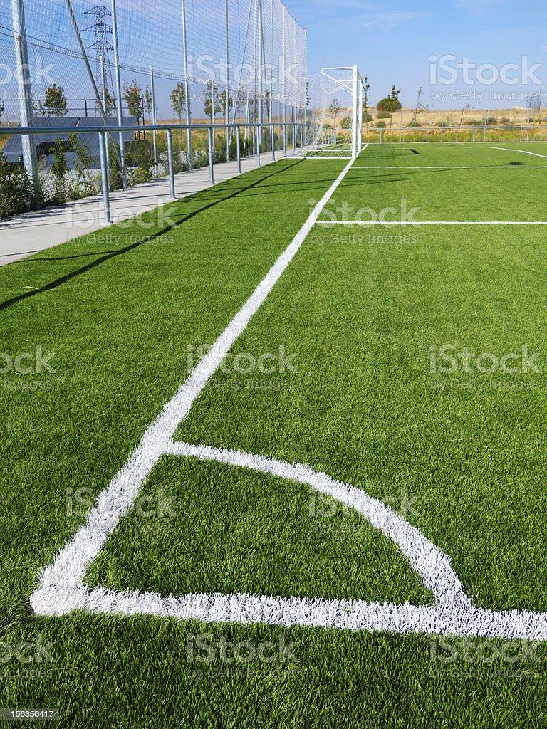 Soccer Corner Marking royalty-free stock photo