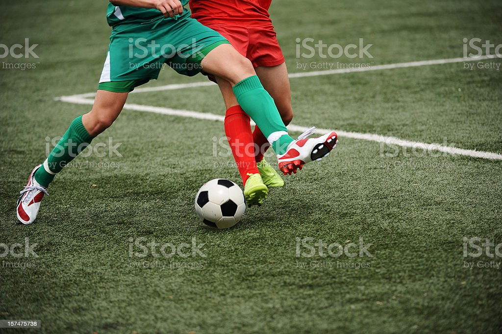 Soccer duell stock photo