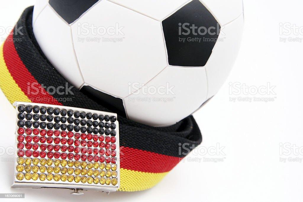 Soccer fan Germany. stock photo