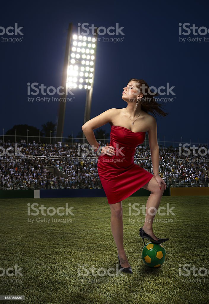 Soccer fan royalty-free stock photo