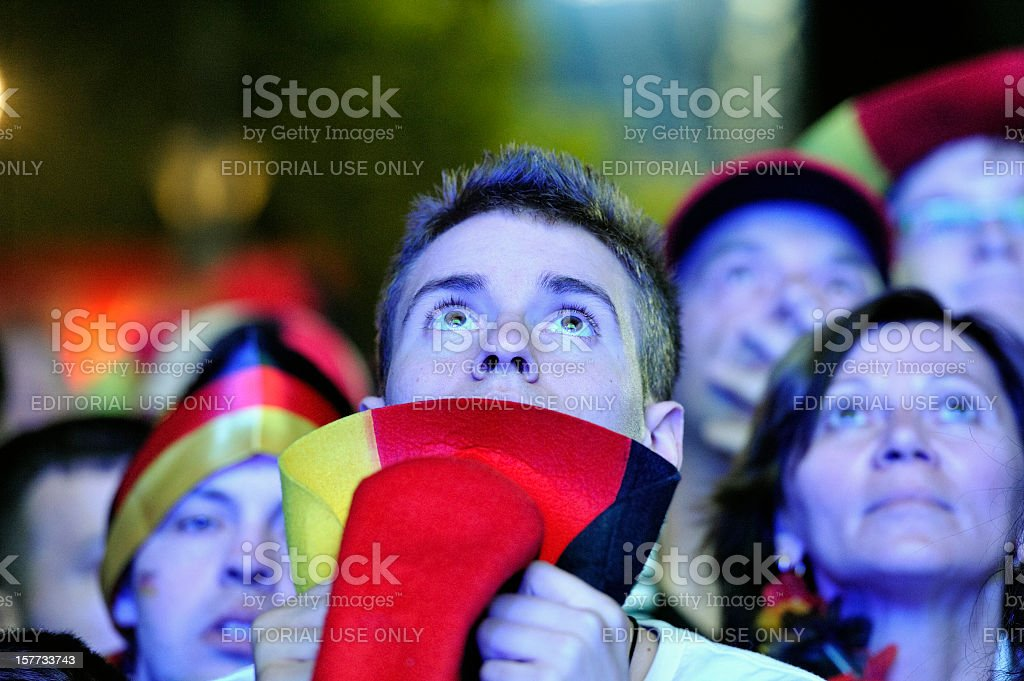 Soccer Fans at Public Viewing Area Brandenburger Tor stock photo